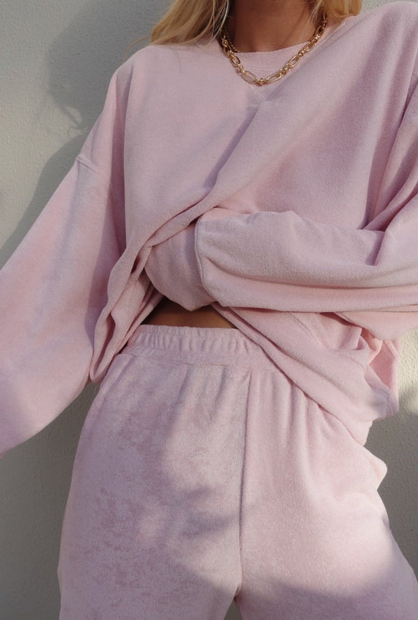 Terry Sweatshirt Dusty Rose