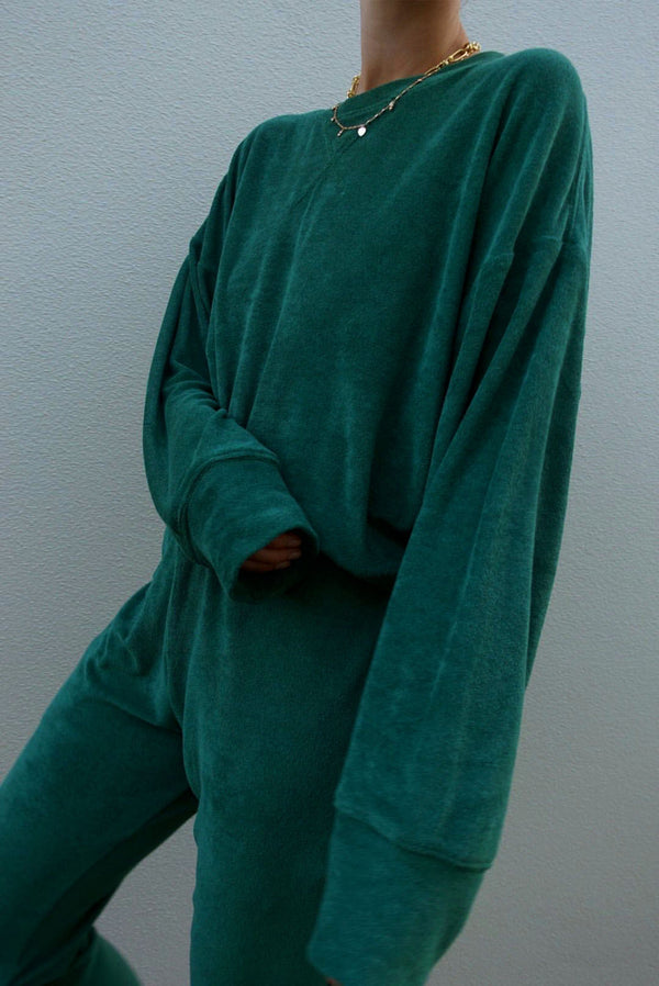 Terry Emerald Green Sweatshirt