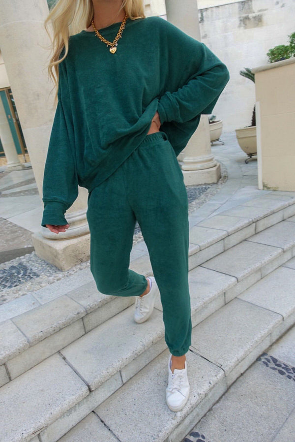 Terry Sweatshirt Emerald Green