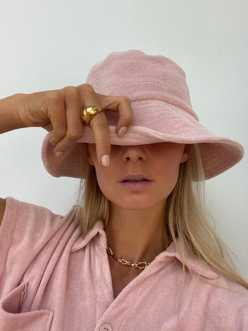 Terry Bucket Hat Dusty Rose