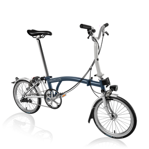 Brompton M3L Tempest Blue/Papyrus White with SP Dynamo Lighting