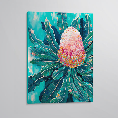 'Blooming Banksia' canvas print