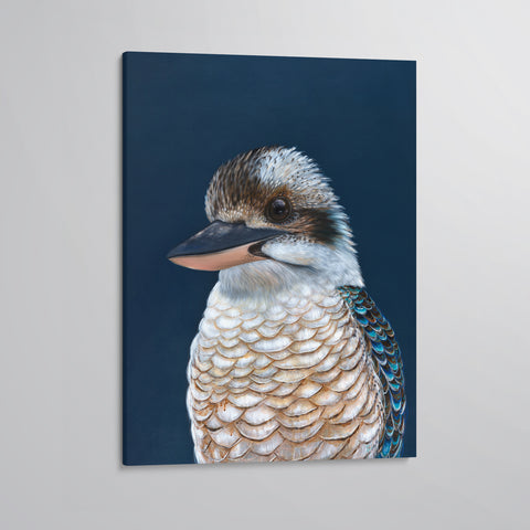'Ollie' The Laughing Kookaburra canvas print