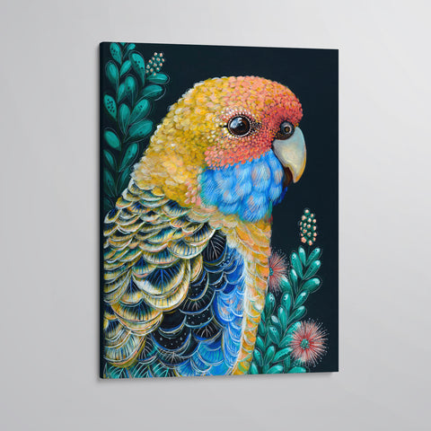 'Sunny' The Yellow Rosella canvas print