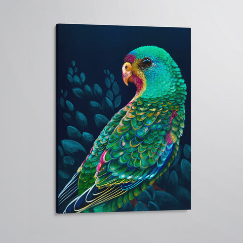 'Swifty' The Swift Parrot canvas print