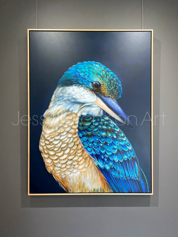 'Kingsley' The Sacred Kingfisher Original Artwork
