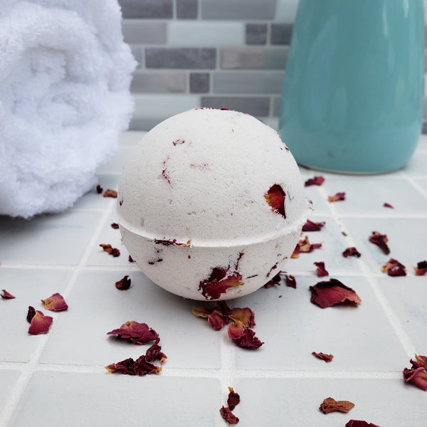 All Natural Rose Bath Bomb