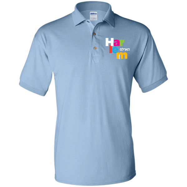 Kids Polo - Light Blue/rainbow logo