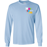 Kid's Long Sleeve Shirt - Light Blue/rainbow logo