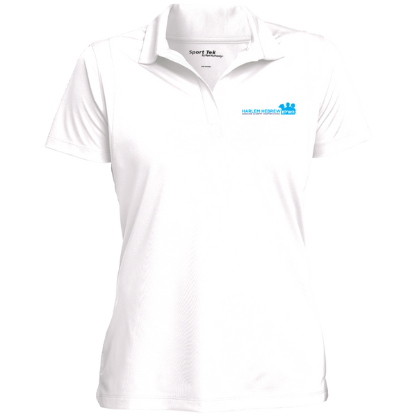 Women's Moisture Wicking Polo - White/solid logo
