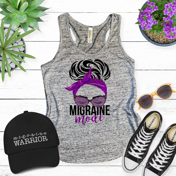 Migraine Mode Ladies Racerback Tank