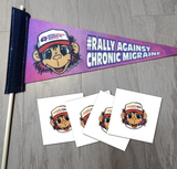 Rally Against Chronic Migraine Pennant & Tattoos (CMA, Inc.)