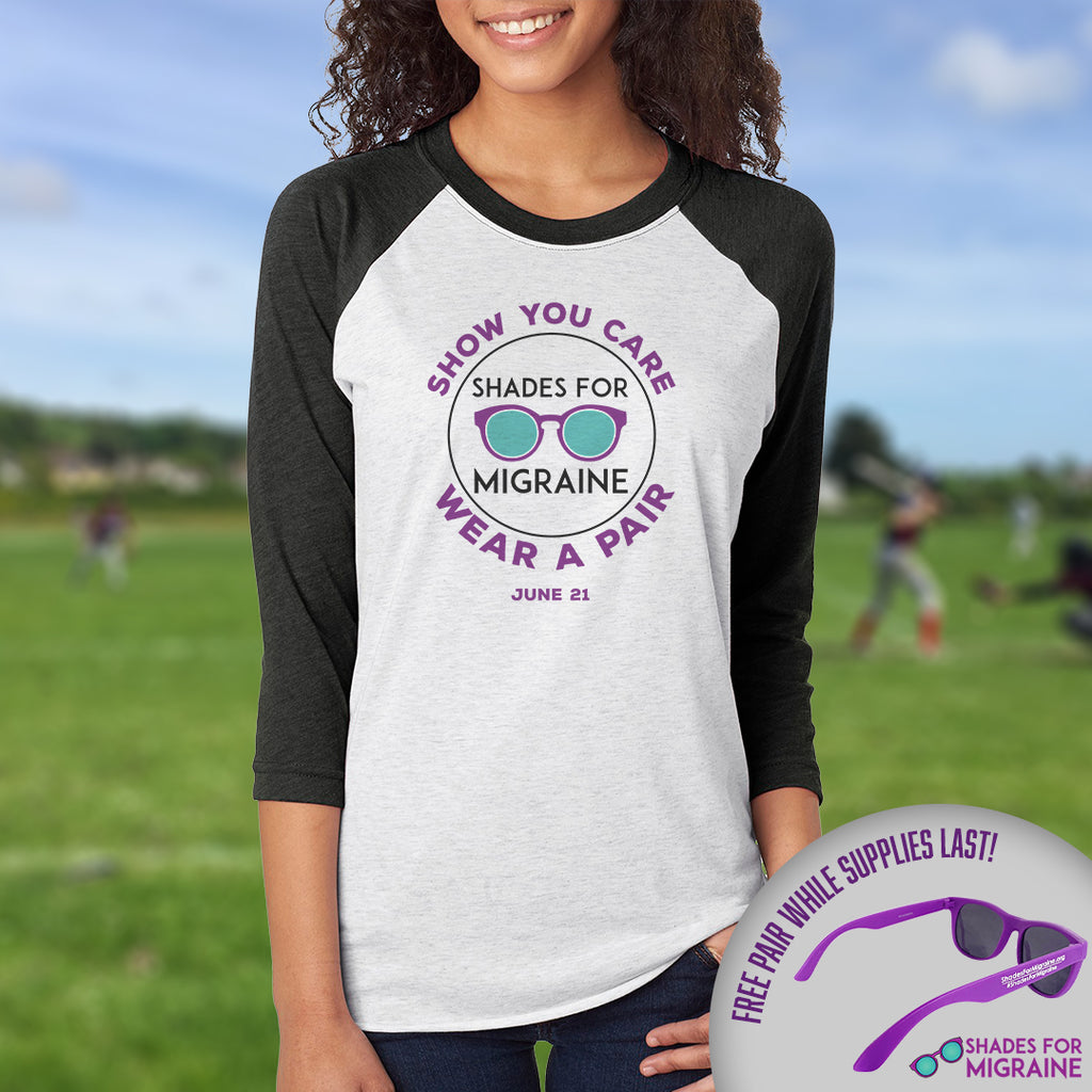 Shades for Migraine Baseball Tee & Sunglasses | June 21 - Achy Smile Shop