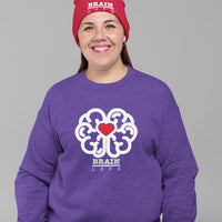 Brain Love Red Heart Sweatshirt