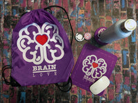 Brain Love Red Heart Cellphone Grip & Car Mount