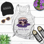 Basically Migraine Cartoon Skull Racerback Tank