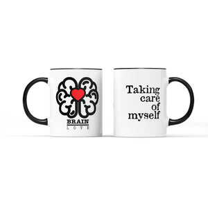 Brain Love White Mug - Achy Smile Shop