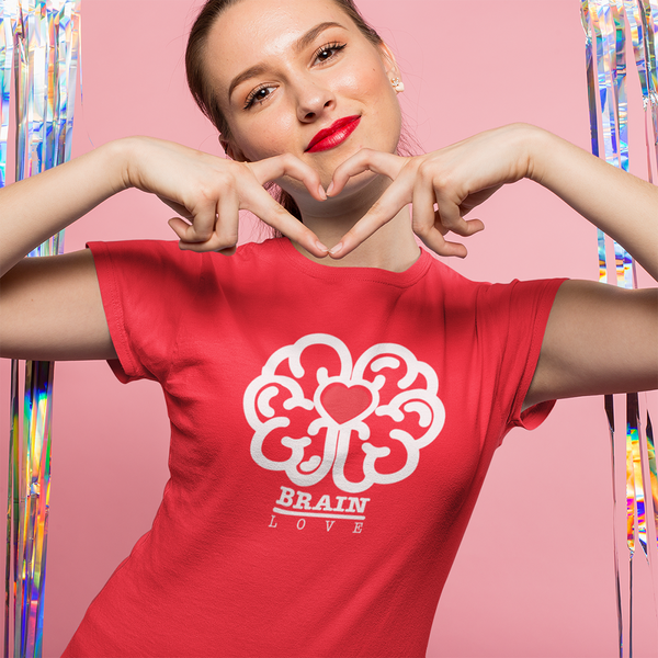 Red Brain Love Tees