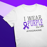 I Wear Purple for Me #Migraine