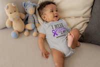 I Wear Purple For [Name] #Migraine (Infant)