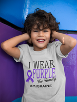 I Wear Purple For [Name] #Migraine (Youth)