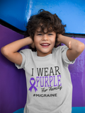 I Wear Purple For [Name] #Migraine (Adult)