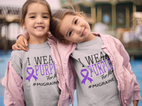 I Wear Purple For [Name] #Migraine (Toddler)
