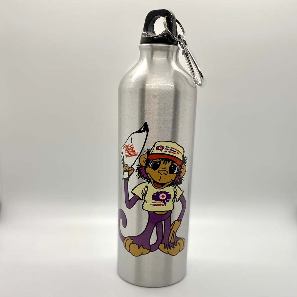 Rally Against Chronic Migraine Aluminum Water Bottle - Achy Smile Shop