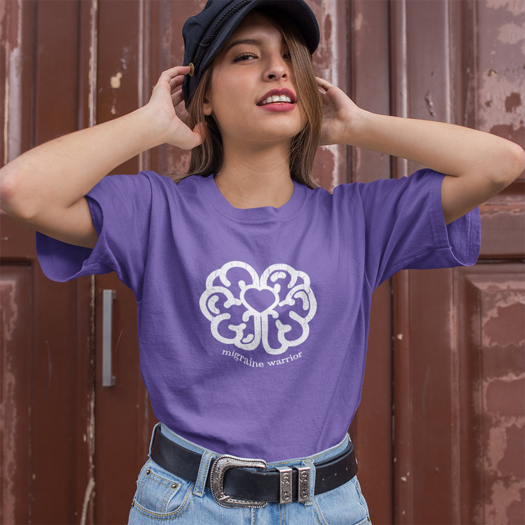 Migraine Warrior / Brain Love Tee - Achy Smile Shop
