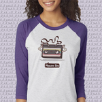Load image into Gallery viewer, Migraine Day Cassette Raglan - Achy Smile Shop
