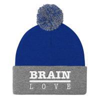 Brain Love Pom Pom Knit Cap/Beanie