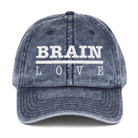 Brain Love Vintage Cotton Twill Cap
