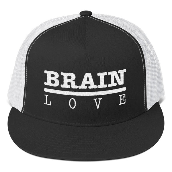 Brain Love Trucker Cap