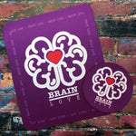 Load image into Gallery viewer, Brain Love Red Heart Mousepad & Coaster Set - Achy Smile Shop