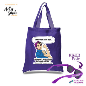 Rosie Tote with Free Sunglasses - Achy Smile Shop
