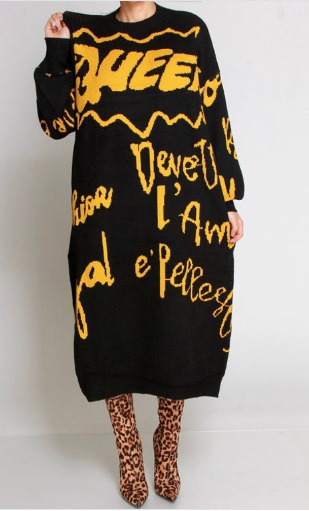 Queen B Sweater Dress
