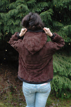 Load image into Gallery viewer, furry fleece hoodie // chocolate brown