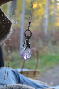 amethyst statement pendant // lunar lily