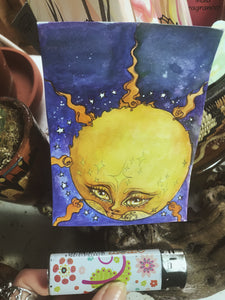 sun friend // art card