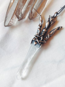 torch crown // smooth icicle quartz