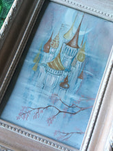 Load image into Gallery viewer, castle in the clouds framed mini painting