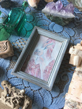 Load image into Gallery viewer, crystal hare framed mini painting