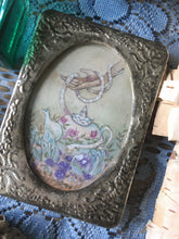 Load image into Gallery viewer, the green witch's teatime mini framed painting