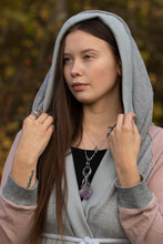 Load image into Gallery viewer, chrysalis II hoodie // grey and pastelle