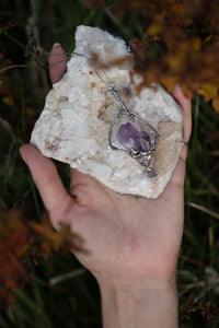 amethyst pendant // ace of cups