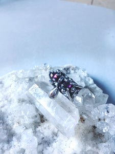 double garnet droplet ring // nectar