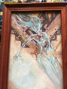 blue glass fae (framed)