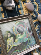Load image into Gallery viewer, mother-of-pearl mermaid (framed)