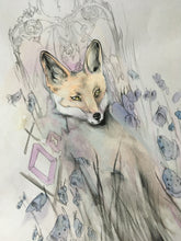 Load image into Gallery viewer, kindly fox (pencil and watercolour)