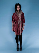 Load image into Gallery viewer, rusty velvet one of a kind hoodie // chrysalis